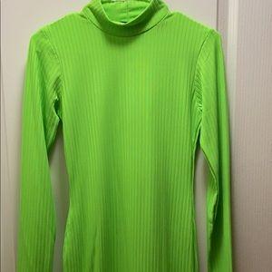 Pretty Little Thing Neon Green Long Sleeve Dress